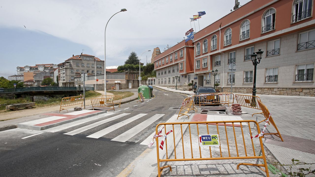 Calle Palamios, en Pontevedra, donde se instalarán medidas para calmar el tráfico