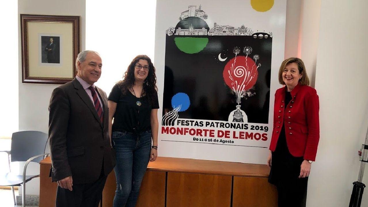 Presentación del cartel anunciador de las fiestas del 2019, realizado por Sonia Álvarez
