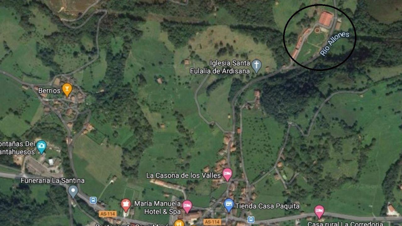 La ubicación donde se situará el proyecto, resaltada