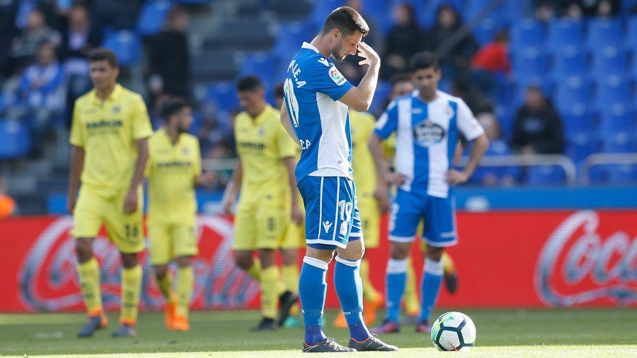 Las mejores imágenes del Deportivo - Villarreal.Adrián López, Piscu