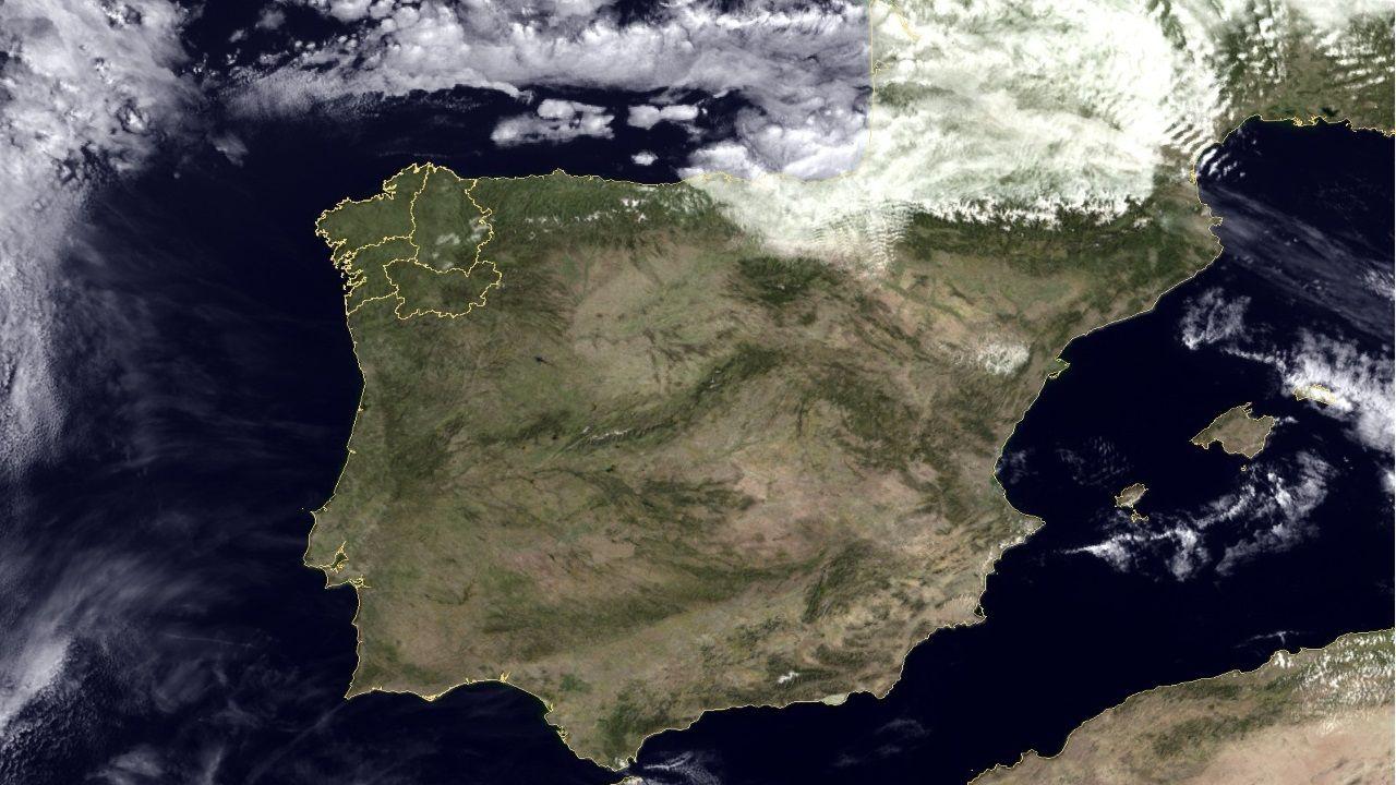 Imagen tomada ayer por el satélite Eumetsat
