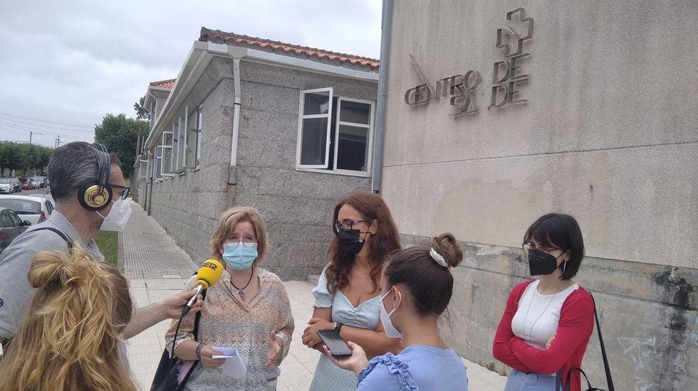 Montse Prado y Sandra Fernández Agraso denunciaron la falta de personal en Baltar, Sanxenxo