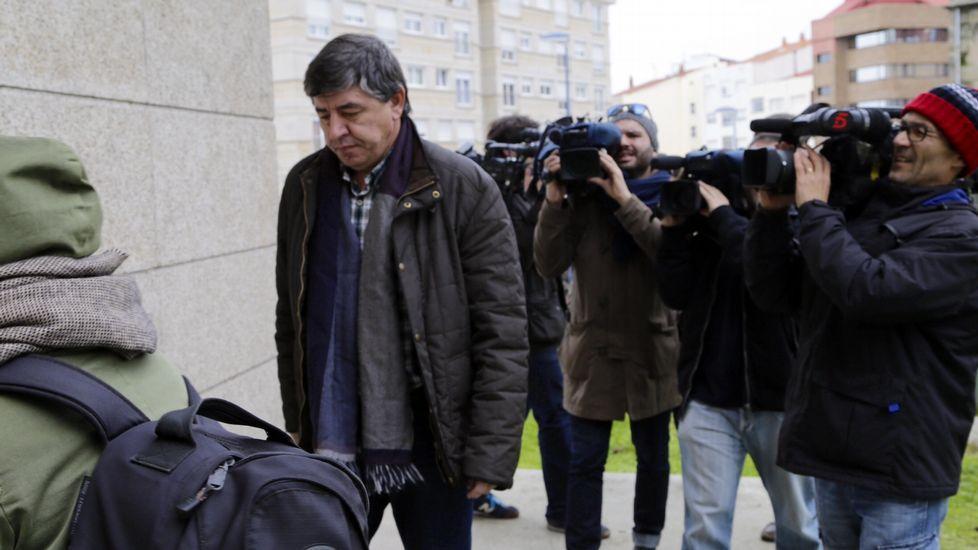 Enrique Alonso Pais, propietario de la empresa Eiriña, en los juzgados de Vigo.