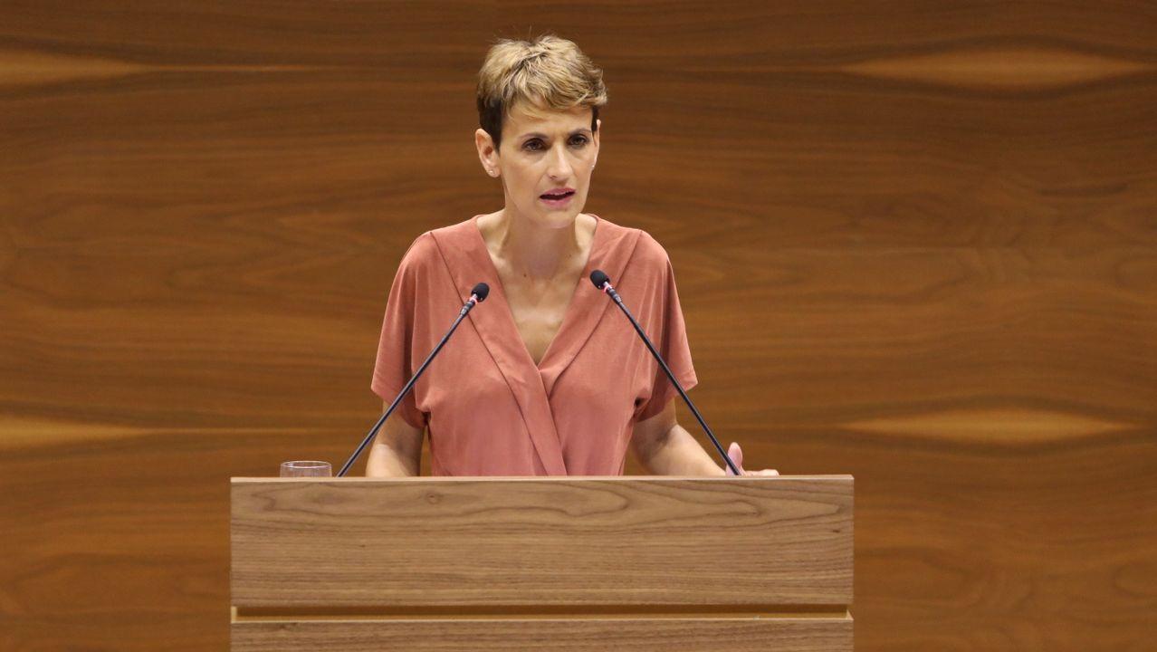 La secretaria general del PSN y presidenta de Navarra , María Chivite