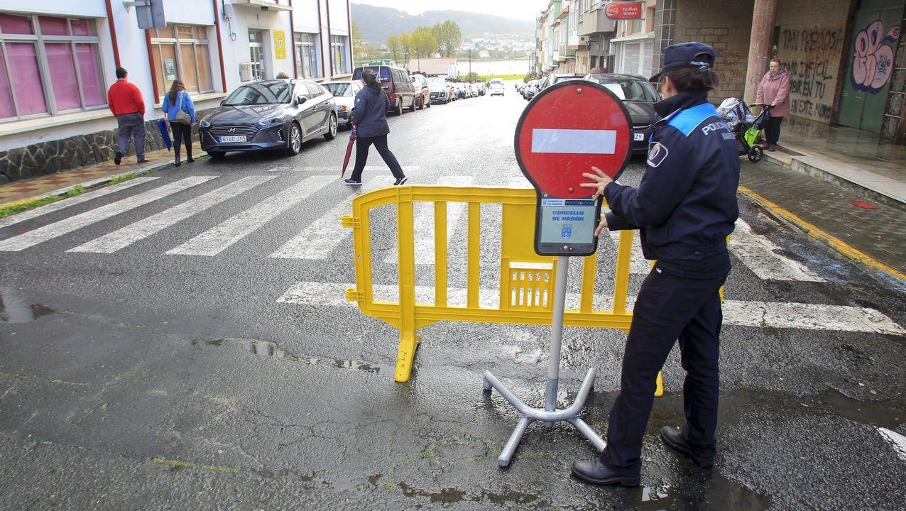 Así es el recorrido alternativo para acceder a la rúa Veiga en Corvillón..Policía Local de Mieres