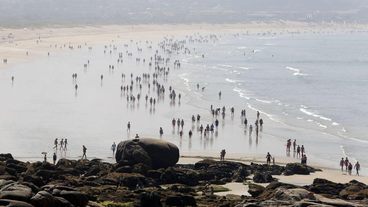 Imágenes del ahogamiento de principios de semana, en Rodeira