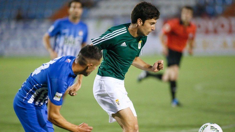 Héctor Nespral en un partido de la pasada pretemporada