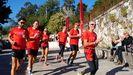 El atleta Martín Fiz salió de Sarria acompañado de otros deportistas y empleados del Banco Santander.