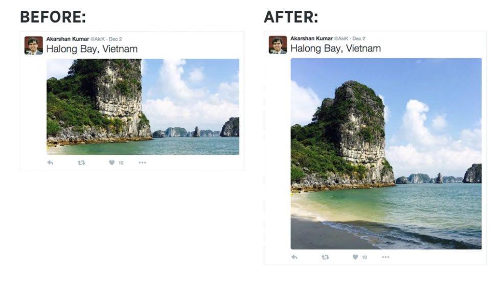 Los más influyentes en Twitter del año 2015.A la izquierda, cómo se veían las imágenes hasta ahora, y a la derecha, como se verán.