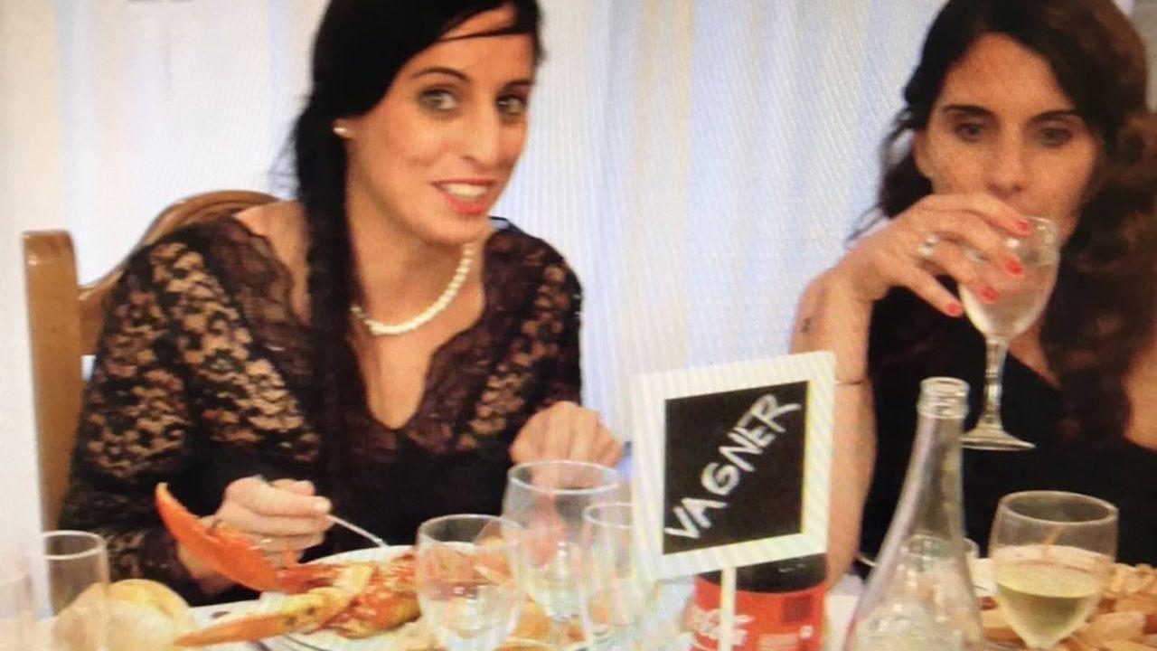 Boda de Jesús Vaquero y Mónica García en Cee en el 2014, mesa Vagner