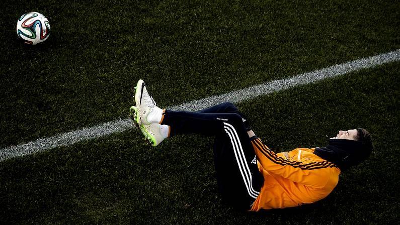 Expediente Bale.Cristiano Ronaldo, en el entrenamiento