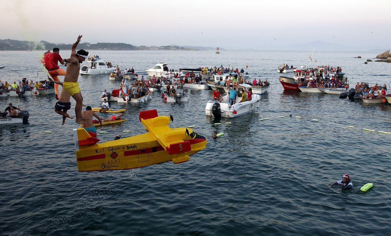Prueba de vuelo sin motor en la Festa da Dorna