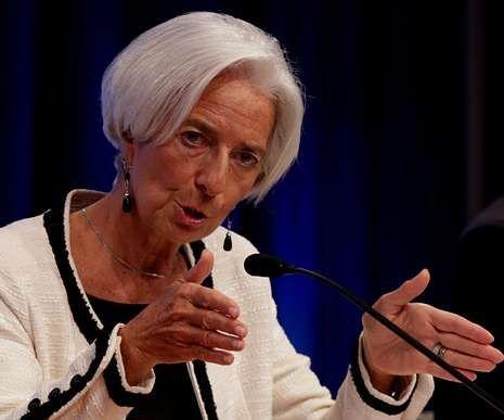 Lagarde, ayer durante su intervención en la runión anual del FMI.
