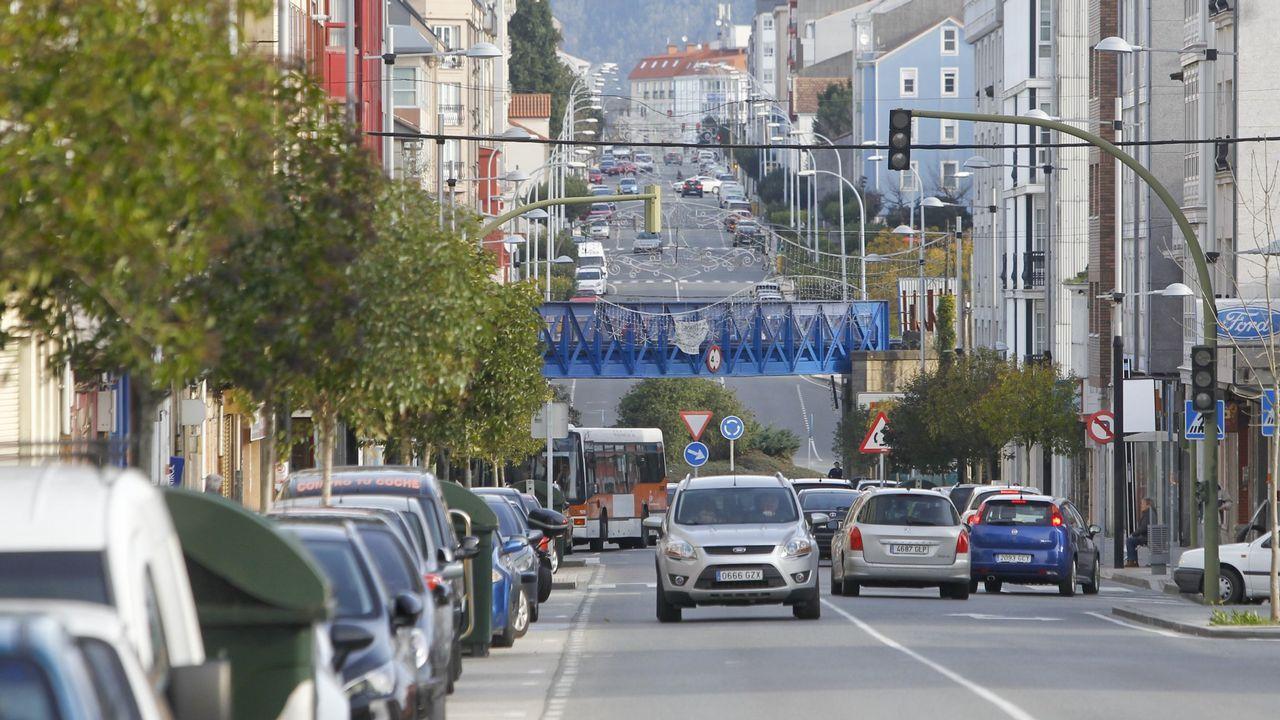 A cien vieiras por hora en A Capela.Imagen de archivo. La construcción de la pasarela se completó en el 2004