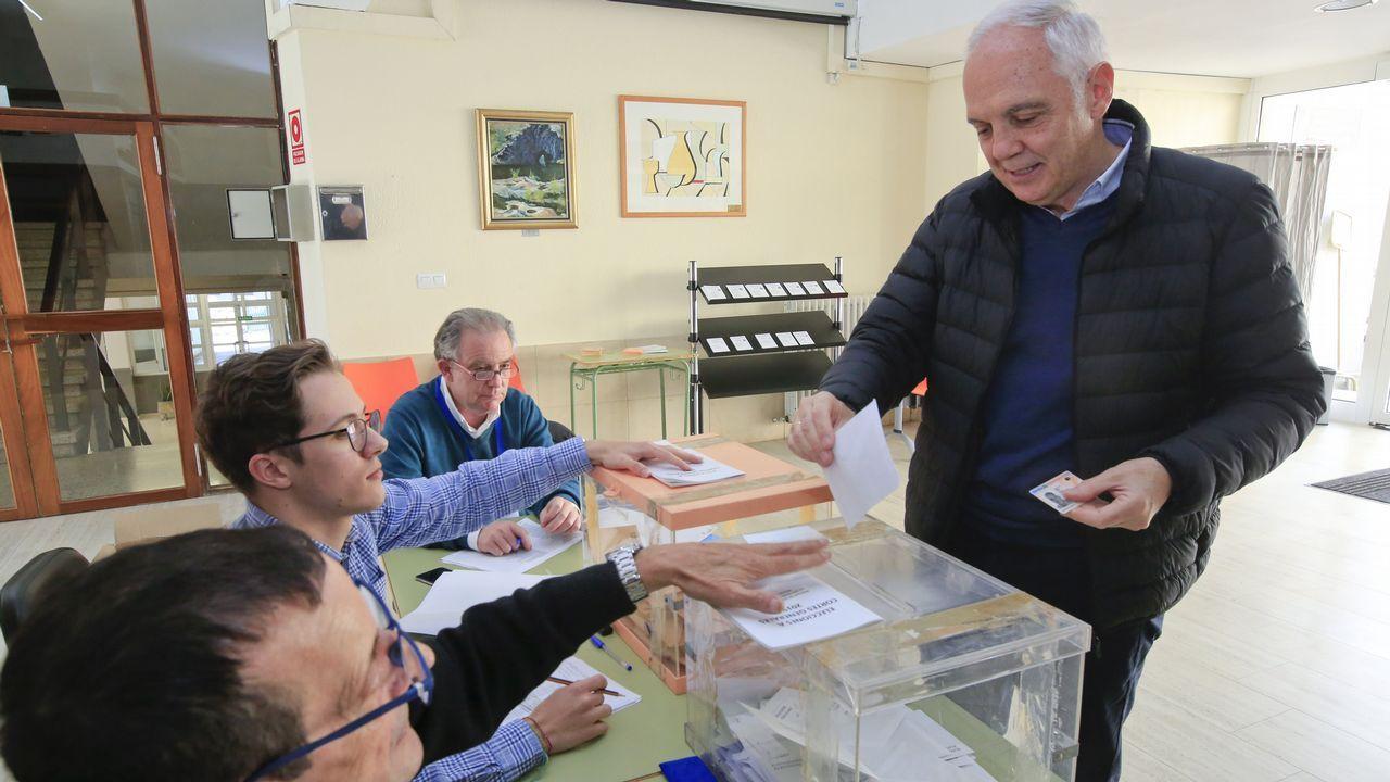 García Díez, del PP, votó en el Politécnico