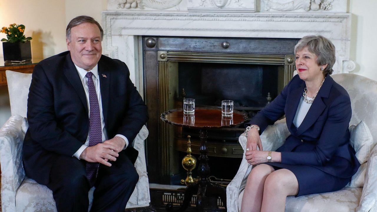 El secretario de Estado de EE.UU., Mike Pompeo, llegó ayer a Londres para reunirse con Theresa May, tras haber dejar plantada el martes a Angela Merkel y viajar inesperadamente a Irak