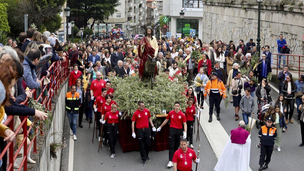 Viacrucis de Semana Santa en la iglesia de sagrado corazon de Vigo.El escritor israelí David Grossman