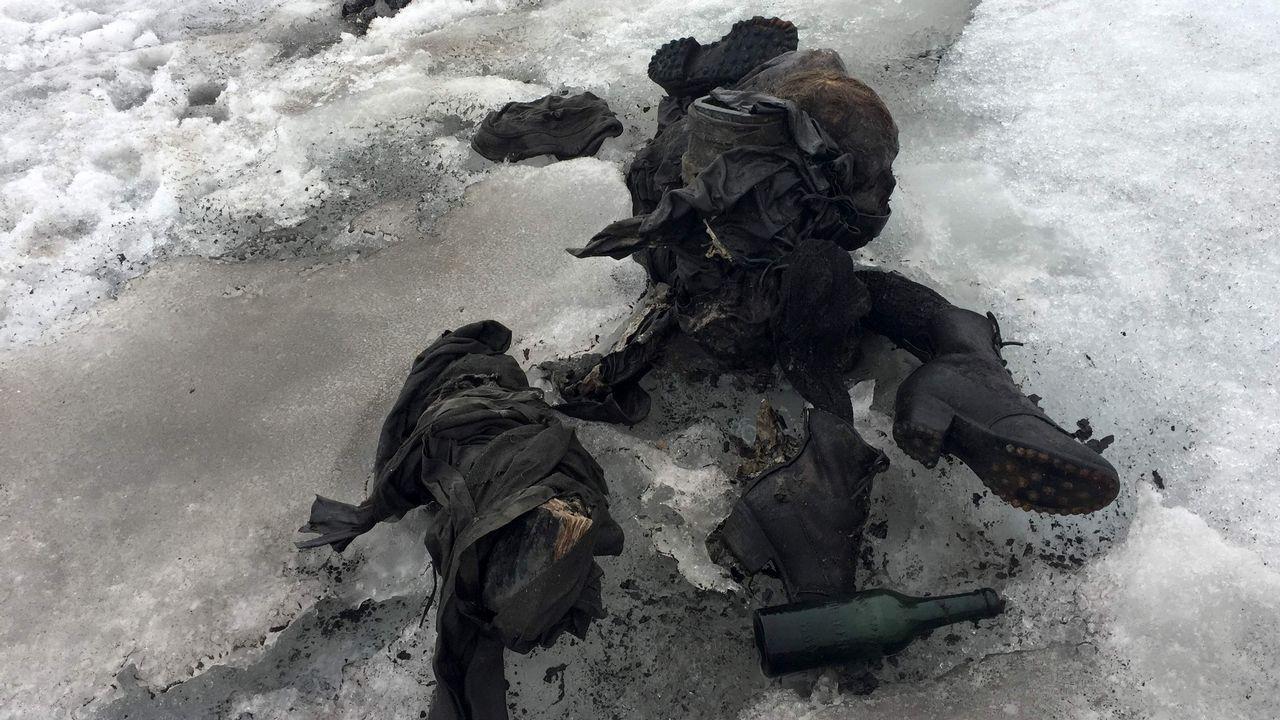 Los restos momificados de la pareja suiza que desapareció hace 75 años