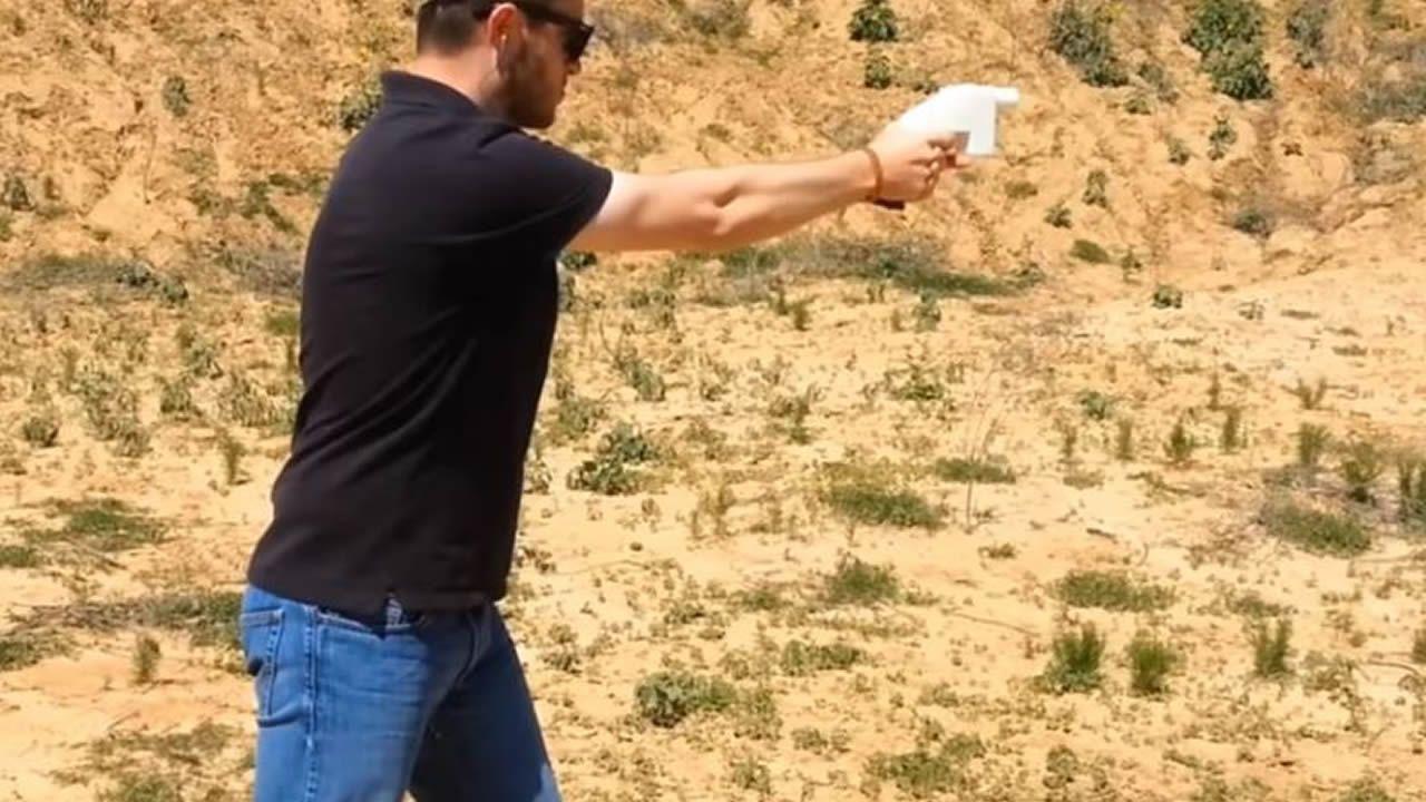 Pistola fabricada con una impresora 3D