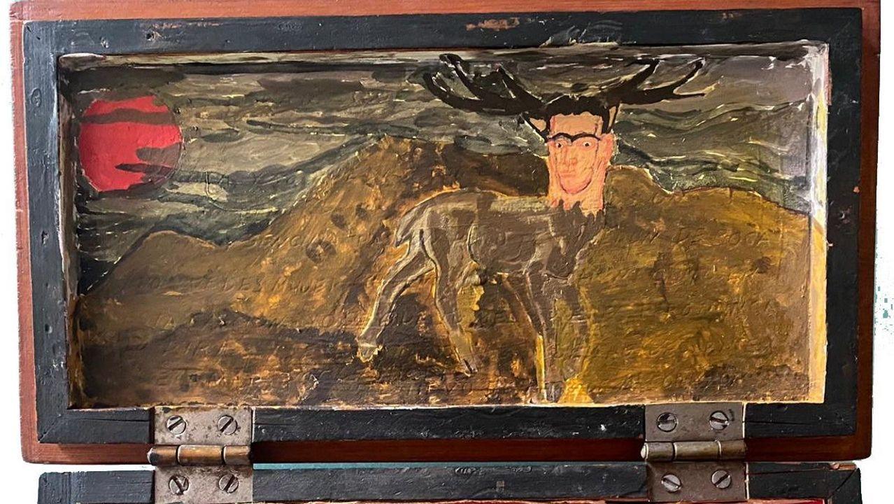 Detalle de la «Caja de Pandora» que le dedicó Frida Kahlo a Alexandre Finisterre