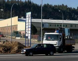 La gasolinera estaba proyectada frente a Hierros Diego.