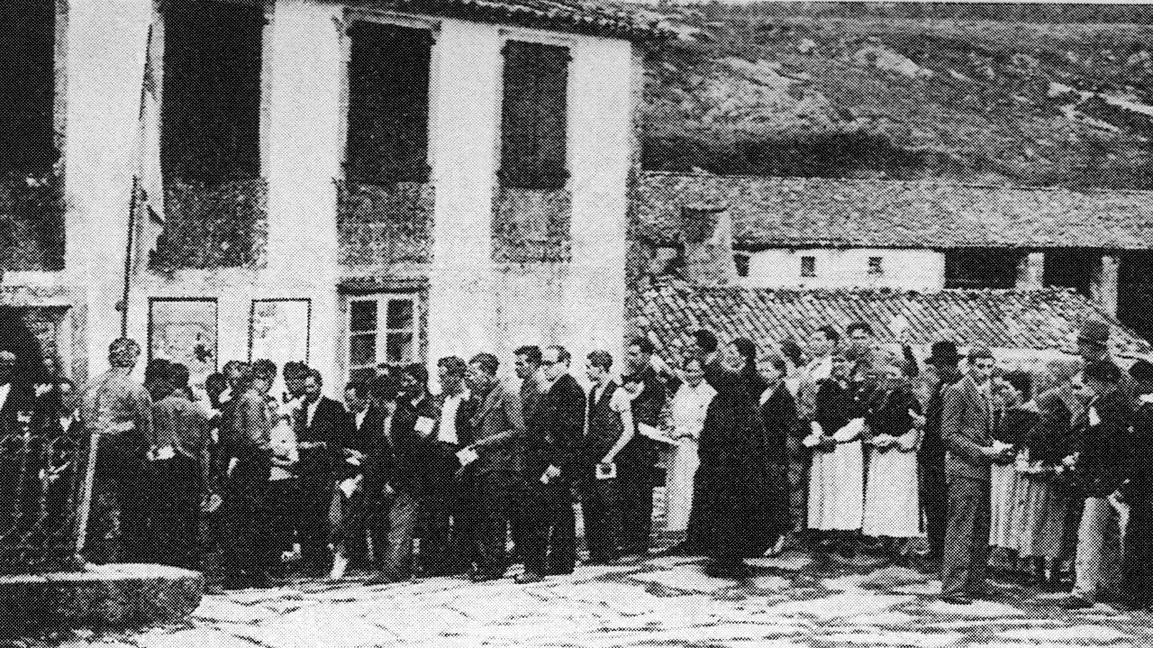 Votación do Estatuto do 36, nunha imaxe de Ksado
