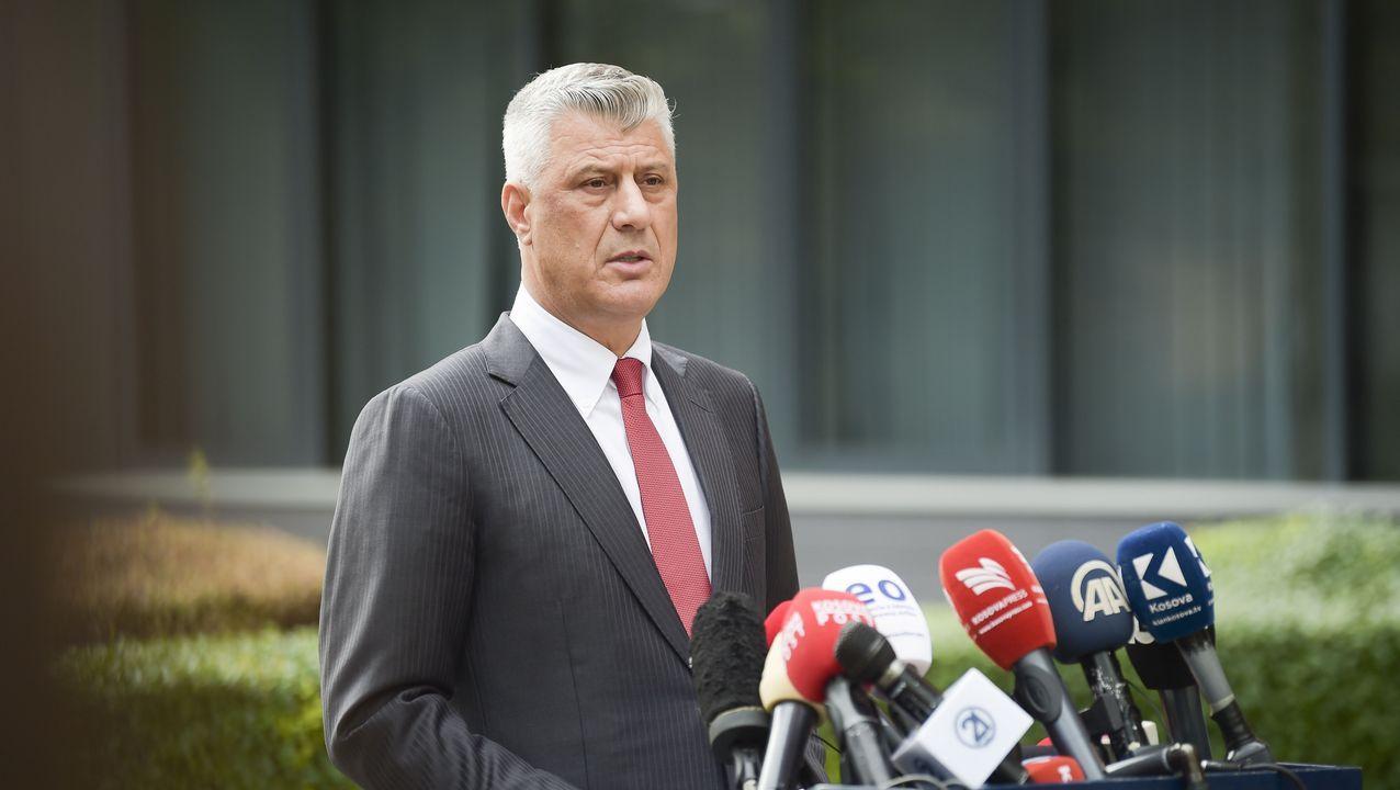 El presidente de la República de Kosovo, Hashim Thaci