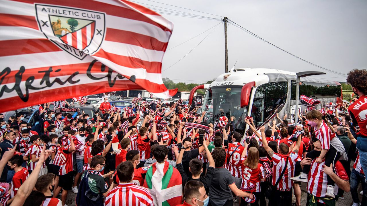 Hinchas del Athletic causan incidentes en Bilbao en la previa de la final de la Copa del Rey
