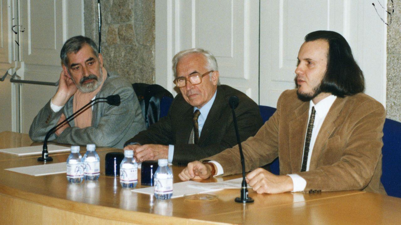 Manuel María, Xosé Neira Vilas e Miguel Anxo Fernán-Vello (de esquerda a dereita)