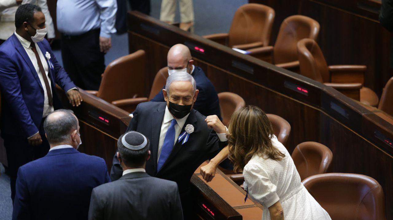 Netanyahu, durante la inauguración del Parlamento salido de las elecciones del 23 de marzo