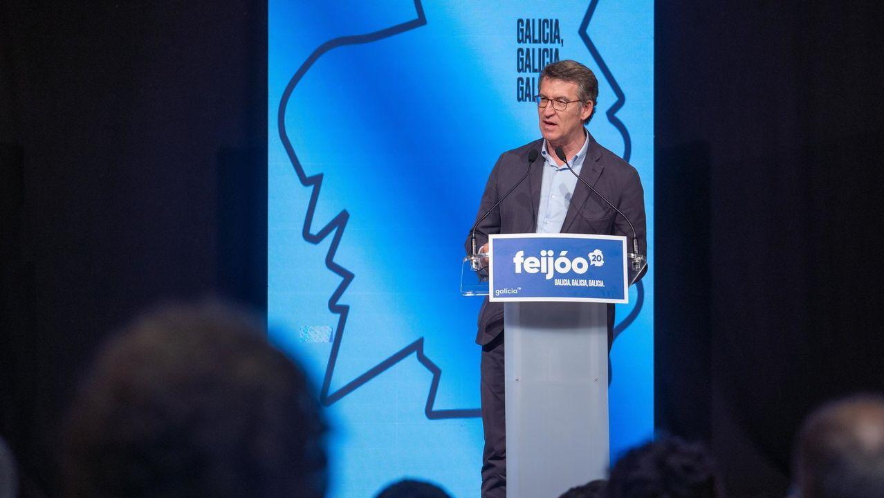 Imagen de Alberto Núñez Feijoo junto a Pablo Casado