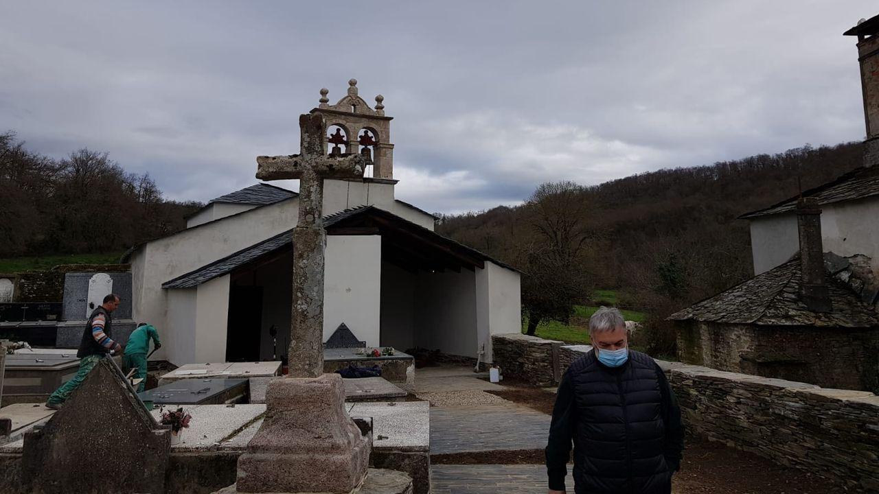 Así ha quedado la reforma de la iglesia de Lousada, en Samos