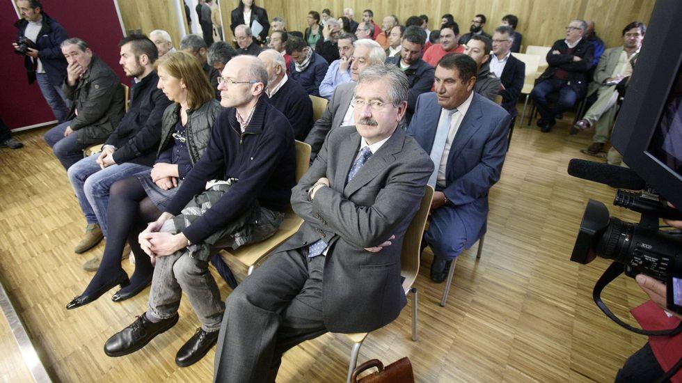 Los acusados por el caso de las multas, durante en la Audiencia Provincial de Lugo.
