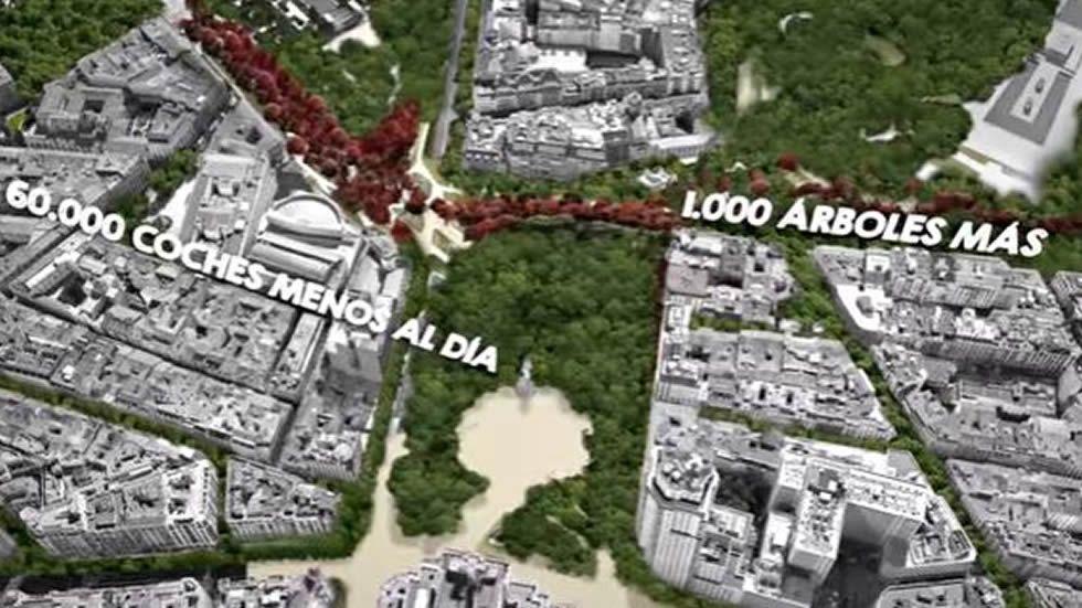 Así será la nueva Plaza de España de Madrid.La caravana de Hazte Oir se cruza con el autobús fletado por «El Intermedio» para protestar por la campaña de la organización ultracatólica