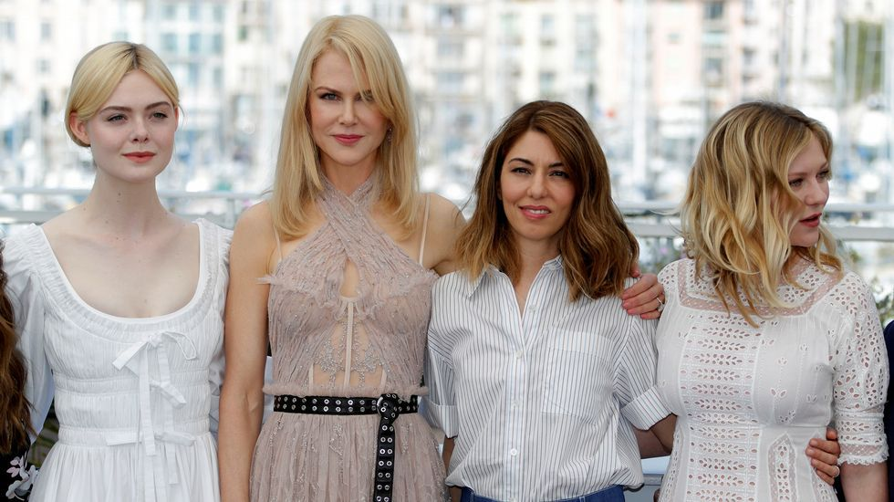 Tráiler de «Zapatos rojos y 7 enanitos».Elle Fanning, Nicole Kidman, Sofia Coppola y Kirsten Dunstand, posan en el photocall del festival