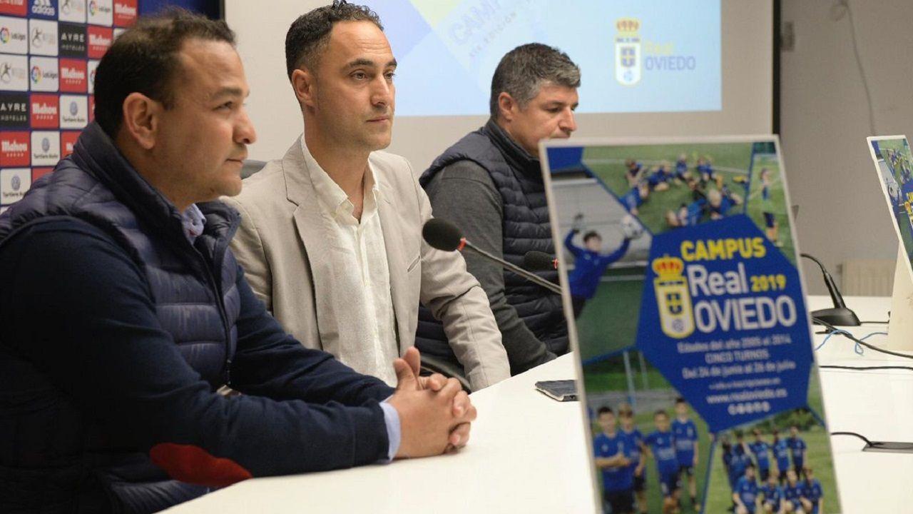 Vetusta Bilbao Athletic Requexon.De izquierda a derecha: Eduardo Rergis, Gabriel Piquero y César Martín