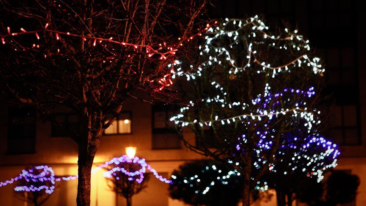 NAVIDAD EN CELANOVA.El alumbrado navideño ya brilla en Xinzo
