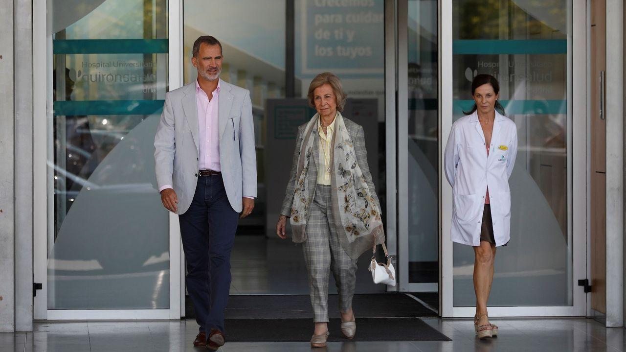 El rey Felipe llega al hospital donde está siendo operado Juan Carlos I: «No sabemos nada»