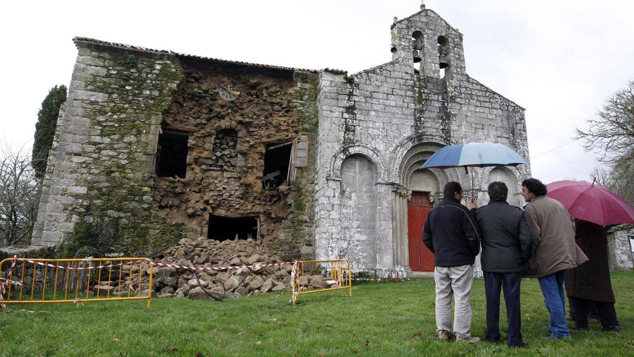 La fachada del Palacio de Diomondi presentaba este aspecto al día siguiente del derrumbe, el 30 de diciembre del 2010