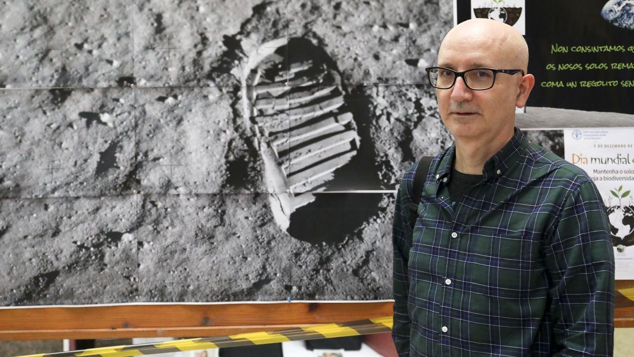 Nicolás Lucas, profesor de Bioloxía e Xeoloxía no IES Pontepedriña de Santiago