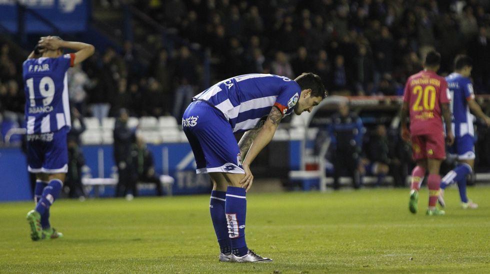 Dépor-Las Palmas, en imágenes.Manuel Pablo, contra el Real Madrid en el último partido de Liga