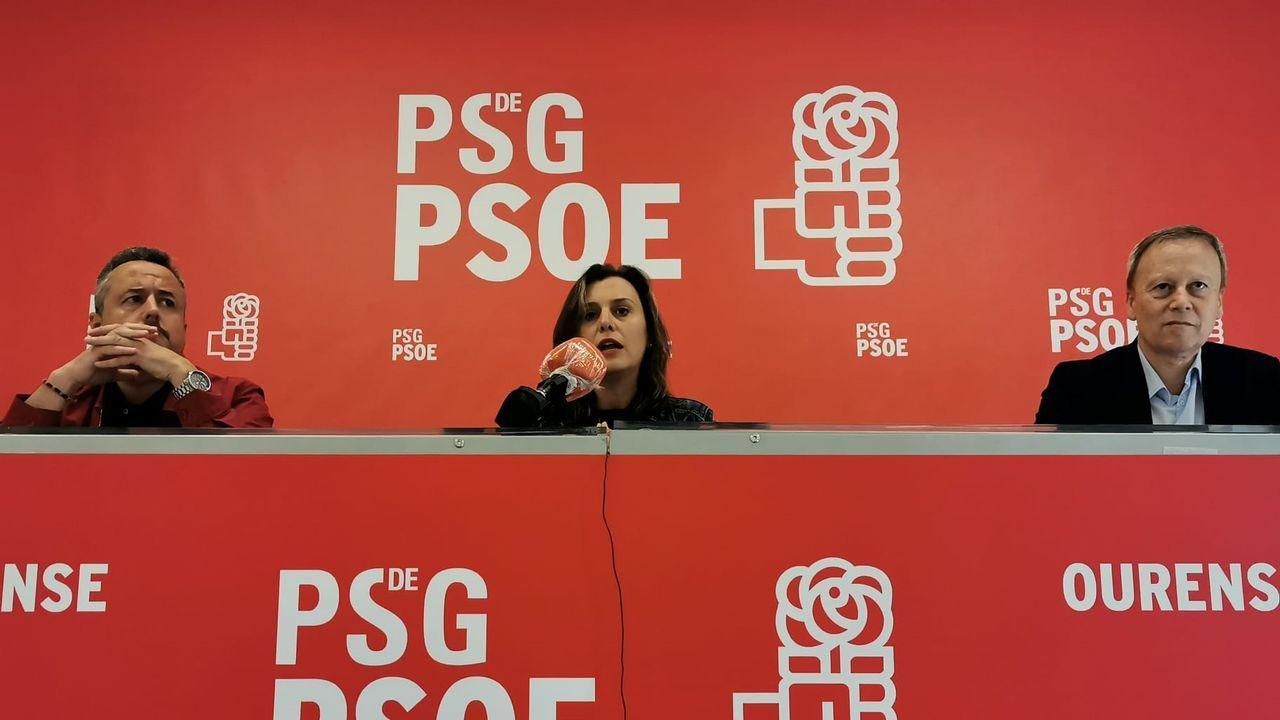 Rueda de prensa del PSOE para hacer balance del primer año de Jácome como alcalde de Ourense