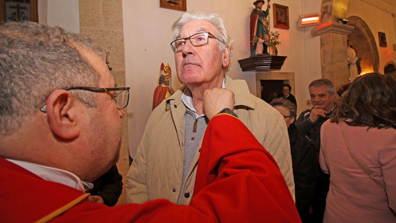 Celebración de San Blas en la iglesia de Posmarcos