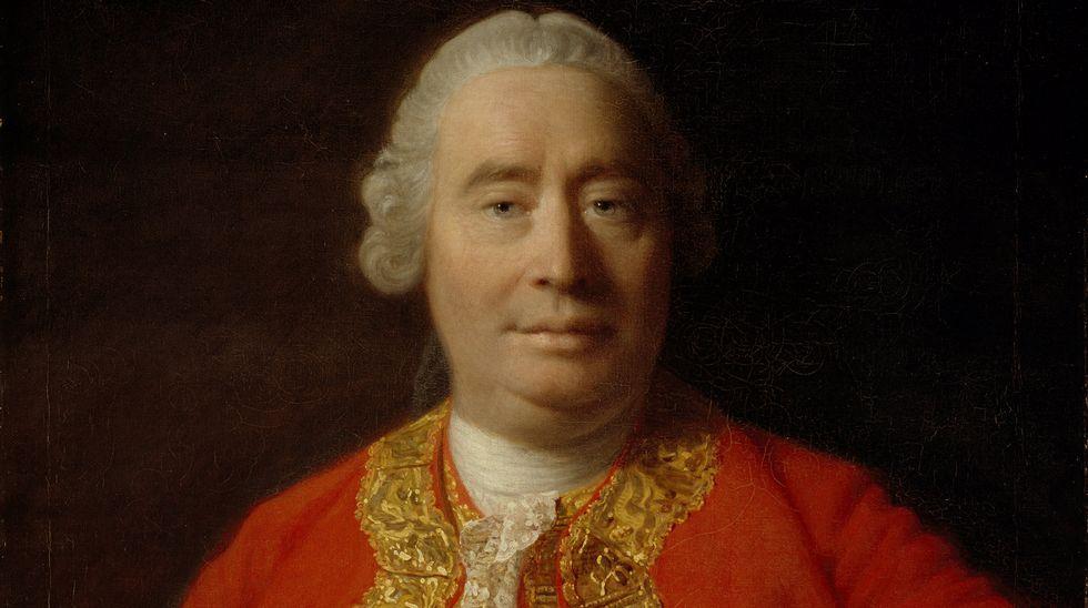 DAVID HUME. Detalle del retrato del filósofo escocés y pilar de la Ilustración europea David Hume (1711-1776) realizado al óleo por el pintor Allan Ramsay en 1776. El libro de Critchley incluye como posfacio el brillante opúsculo sobre el suicidio que escribió Hume, y que se publicó de forma póstuma.