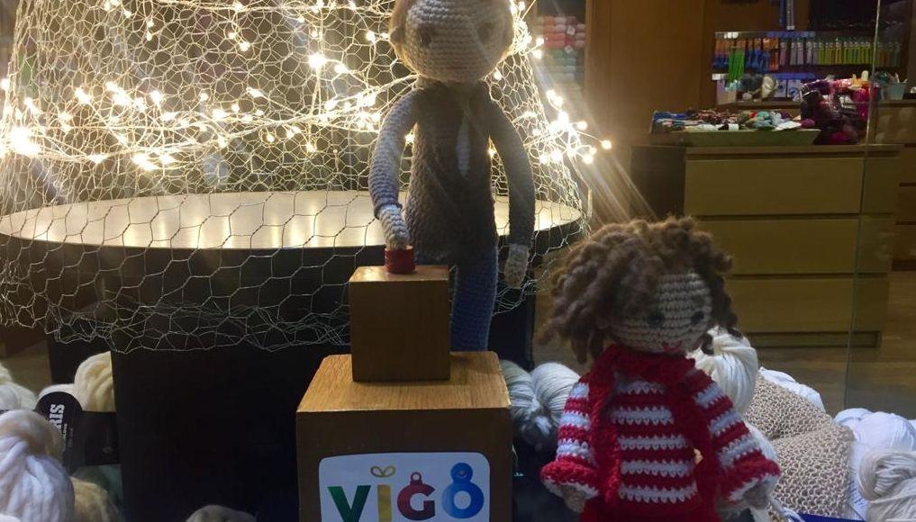 Recreación del encendido en la tienda de lanas Faino Ti