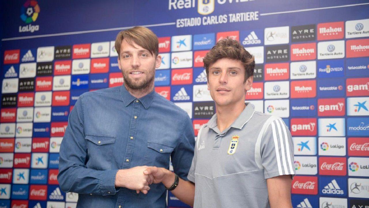 Michu y Sangalli en el Carlos Tartiere