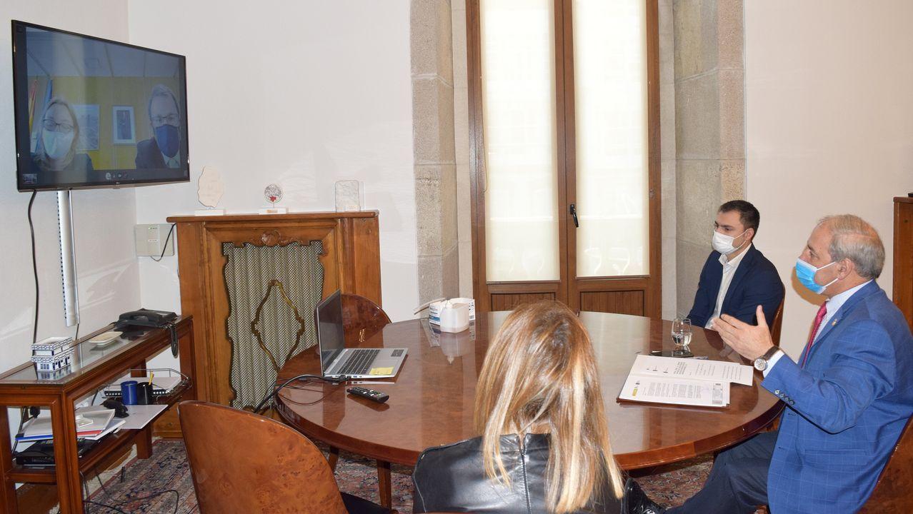 Lamela, en una visita a Radio Voz, antes de la pandemia
