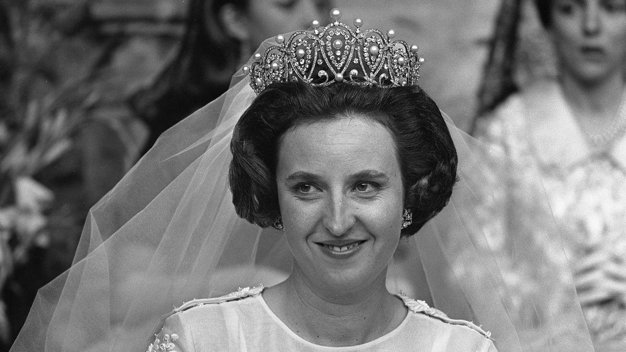 Pilar de Borbón se casó con Luis Gómez Acebo Estoril el 5 de mayo de 1967 en el monasterio de los Jerónimos de Belém, en Lisboa