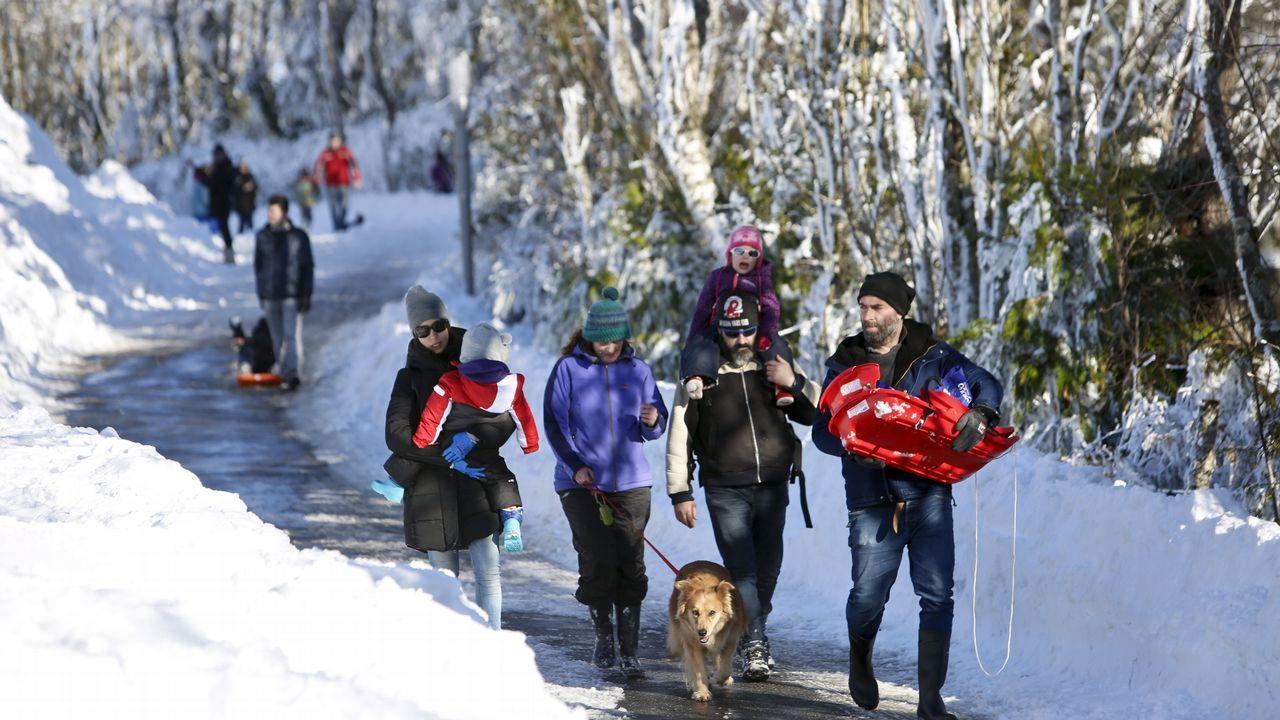 O Cebreiro es actualmente el lugar que más visitantes recibe atraídos por la nieve