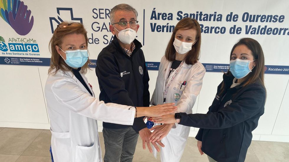 Cuatro de los 22 enfermeros que trabajarán en la campaña de vacunación del coronavirus